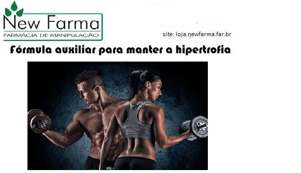 FÓRMULA AUXILIAR PARA MANTER A HIPERTROFIA