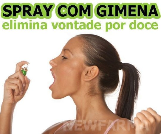 SPRAY COM GYMNEMA SILVESTRE ( Elimina Vontade de comer doces) - 30 Ml
