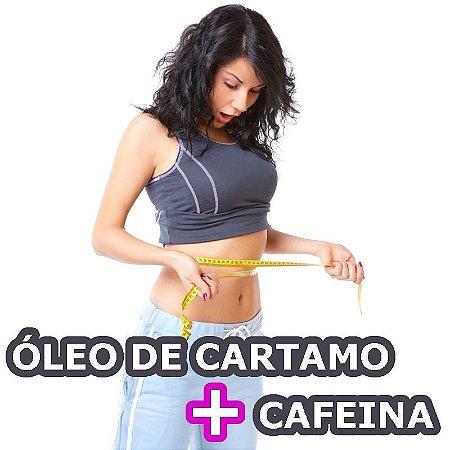 ÓLEO DE CARTAMO COM CAFEINA (Acelera o Metabolismo) 1g-60 Capsulas