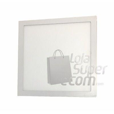 luminaria De Led Maxtel Plafon Quadrado Sobrepor 40x40 36w