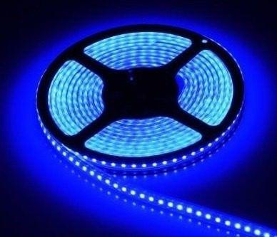 Fita De Led 5 Metros Azul 50x50 Decoração Luz Led