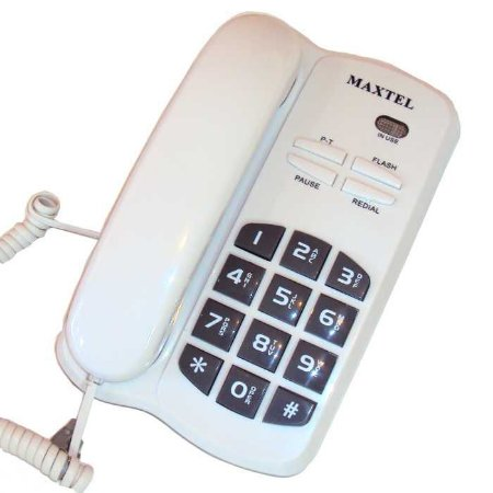 Telefone Maxtel De Mesa Com Fio Fixo Mt-3036