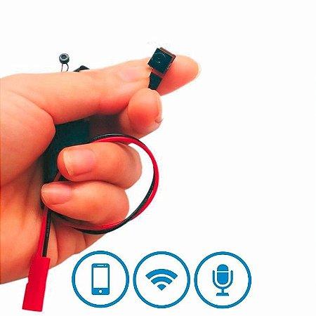 Micro Câmera Wifi Ip Com Áudio + Micro Sd Sem Fio Espia