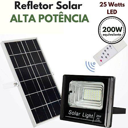 Refletor Energia Solar de Luz alta potencia - 25 Watts LED