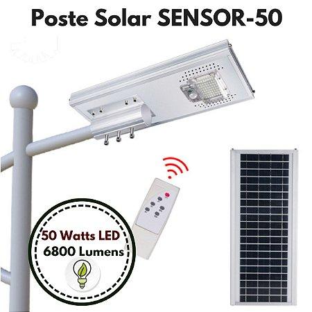 Poste Energia Solar LED com SENSOR-50
