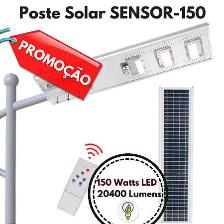 Poste Energia Solar LED com SENSOR-150