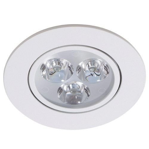Spot 3w Carcaça Branca E Luz Branco QUENTE