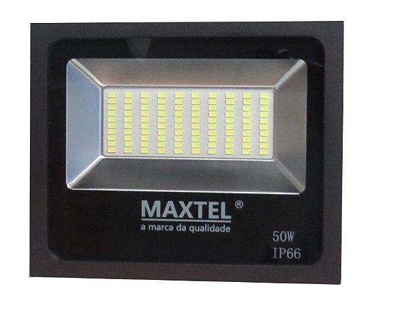 Novo Modelo Refletor Smd Led Holofote 50w Branco Frio Maxtel