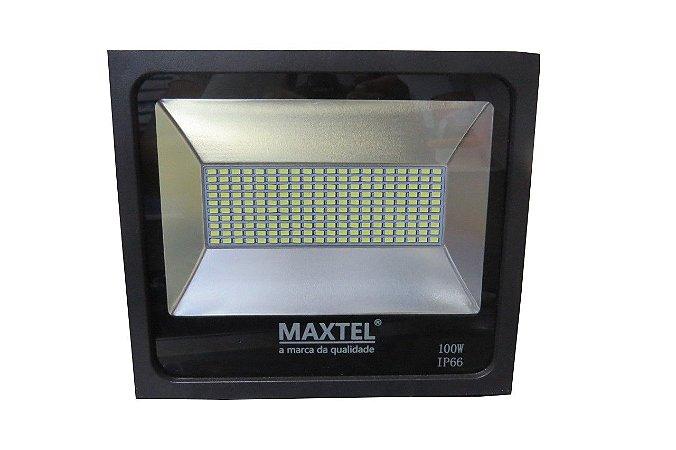 Novo Modelo Refletor Smd Led Holofote 100w Branco Frio Maxtel