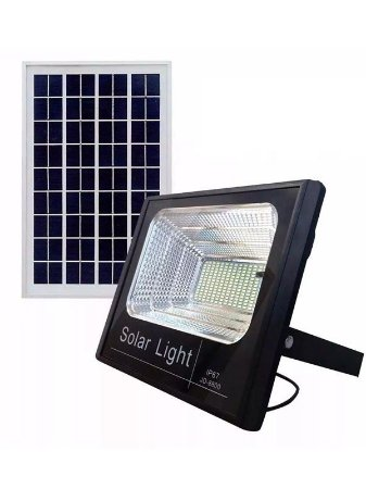 Lançamento Refletor Solar 300w + Placa Solar