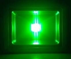 Refletor 50w Led Verde Holofote Bivolt Prova D´ Água