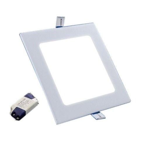 Luminaria Paflon Led 6w Embutir Maxtel Quadrado