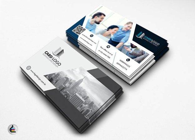 1.000 Cartões de Visita - 48x88mm Couchê Brilho 250g - 4x1 Verniz Total Brilho Frente