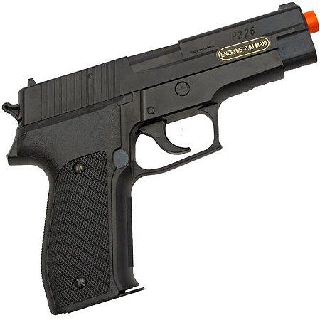Pistola de Airsoft P226 ABS - Calibre 6,0 mm - Sig Sauer + Capa Brinde