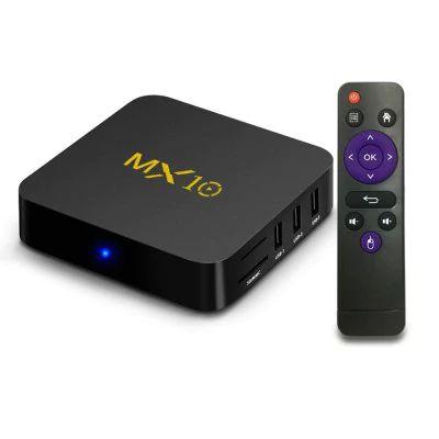 Novo Tv Box MX10 Android 7.1.2 4GB DDR3 + 32GB + Lista de Canais Premium Grátis