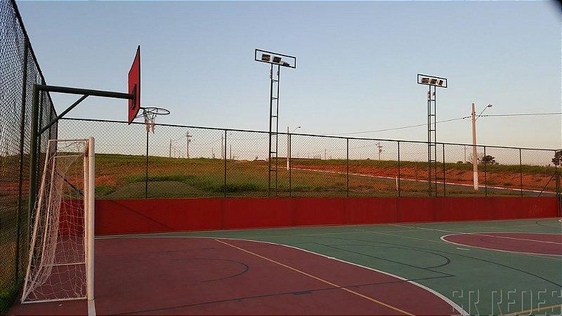 Rede de Proteção Esportiva Sob Medida para Lateral e Fundo de Campos de Futebol, Society e Quadras Poliesportivas - Fio 6 - Malha 10