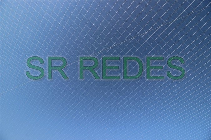 Rede de Proteção Esportiva Cobertura Teto de 20x30 metros no Fio 2 e Malha 10 na Cor Preto