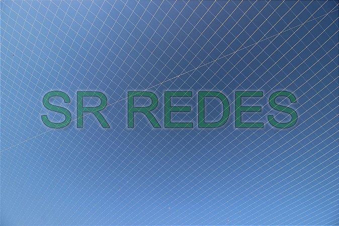 Rede de Proteção Esportiva Lateral Fundo de 4,40x42,40 metros no Fio 4 e Malha 12 na Cor Azul