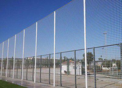Rede de Proteção Esportiva Sob Medida para Campos de Futebol, Society, Futsal e Quadras - Fio 4 Poliéster Seda