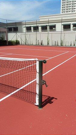 Rede de Tênis Oficial Saque Duplo Reforçado com 3 lonas de 1.8mm e costura tripla + cabo de aço
