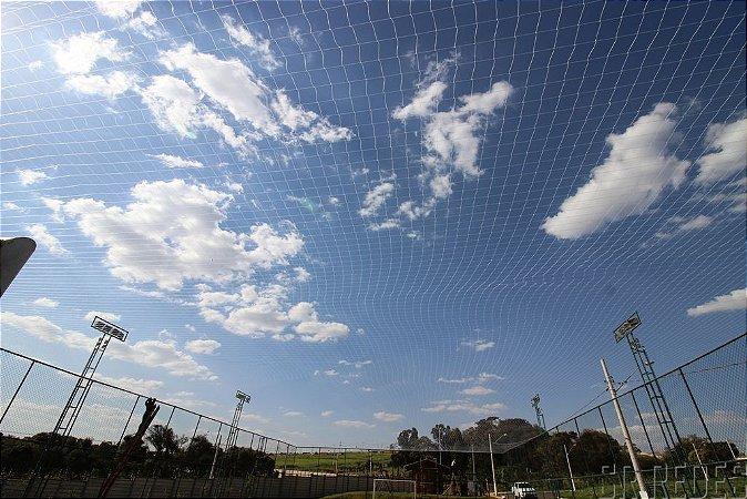 Rede de Proteção Esportiva Sob Medida para Cobertura de Campos de Futebol, Society, Quadras e Areia - Fio 2 - Malha 12