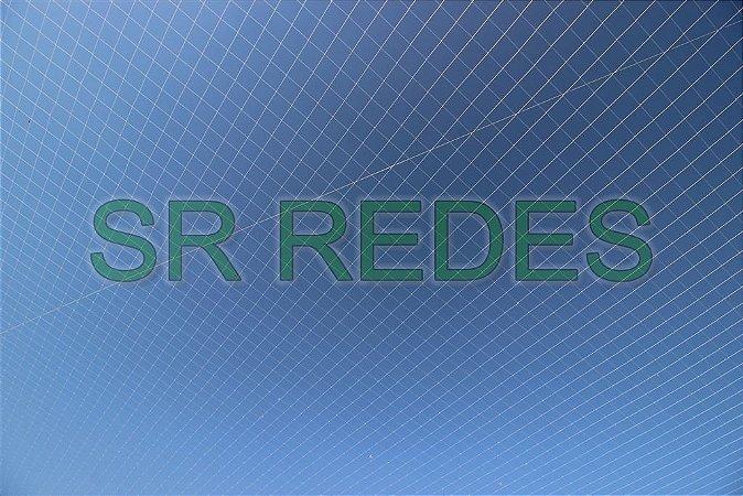 Rede de Proteção Esportiva Lateral Fundo de 7x60 metros no Fio 4 e Malha 15 na Cor Azul
