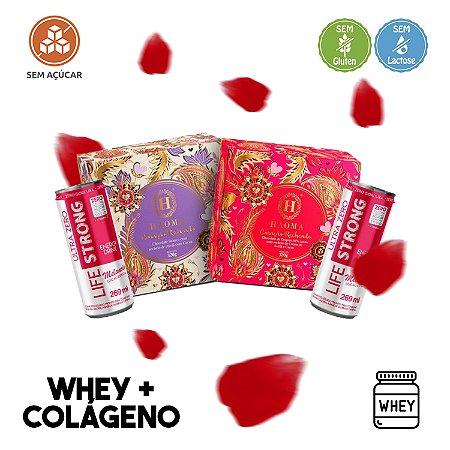 KIT Coração ZERO açúcar c/ Whey Protein + Colágeno (320g) - Haoma + 2 Energéticos Ultra ZERO Lifestrong sabor MELANCIA!