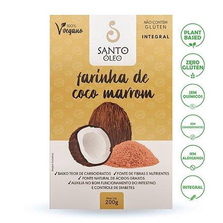Farinha de Coco Marrom (200g) - Santo Óleo