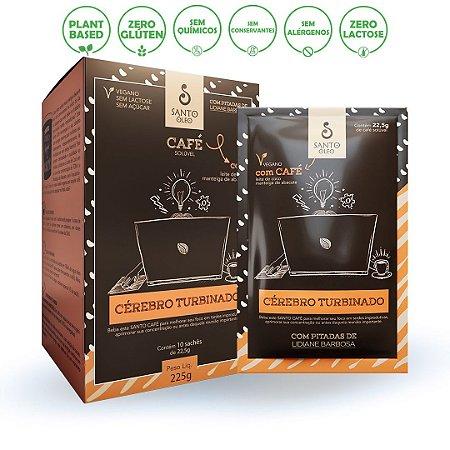Sachê Café Cérebro Turbinado 22,5g (Caixa C/ 10 Unidades) - Santo Óleo