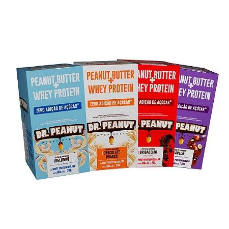 Sachês Pasta de Amendoim C/ Whey 20g (Caixa C/ 10 Unidades) - Dr. Peanut