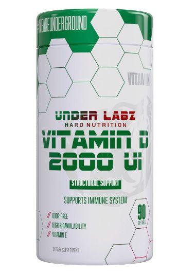 Vitamina D-2000 (60 caps) - Under Labz