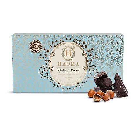 Barra de chocolate ZERO açúcar  Avelã C/ Cacau (1kg) - HAOMA