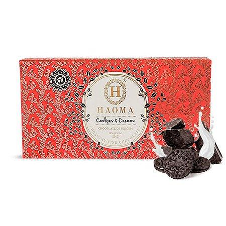 Barra de chocolate ZERO açúcar sabor Cookies & Cream (1kg) - HAOMA