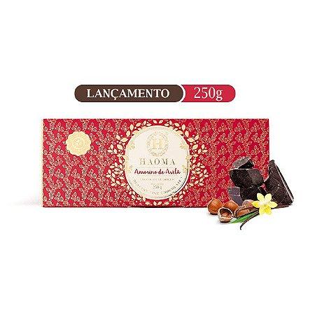 Barra de chocolate ZERO açúcar sabor  Amorino De Avelã (250g) - HAOMA