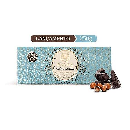 Barra de chocolate  ZERO açúcar sabor Avelã C/ Cacau(250g) - HAOMA