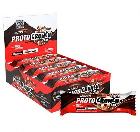 Proto Crunch - Barra de Proteína CAIXA (600g) C/ 10 Unidades 60g Cada - Nutrata