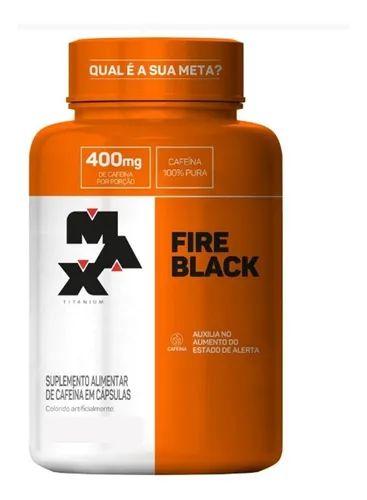 Termogênico Ultimate Fire Black (120 Caps) Max Titanium