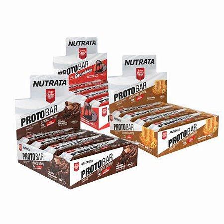 BARRA DE PROTEÍNA- Protobar (Caixa 8 unidades) Nutrata