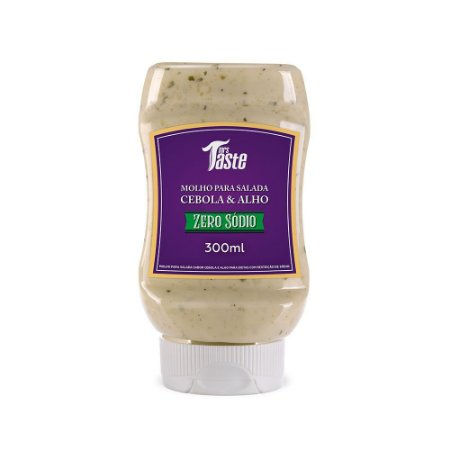 Molho Cebola e Alho ZERO (300ml) - Mrs. Taste