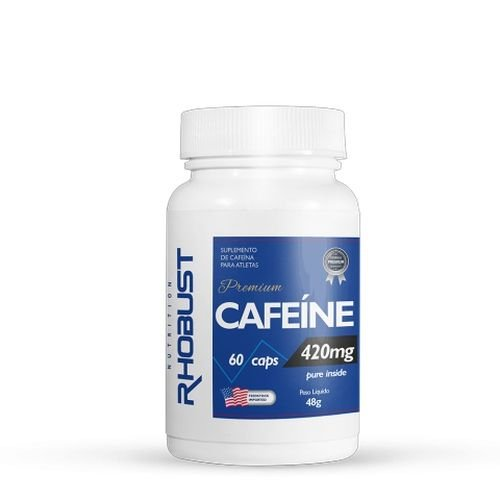Cafeíne 420mg (60 cáps) - Rhobust