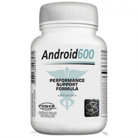 Android 600mg  (60 Cáps) - Power Supplements