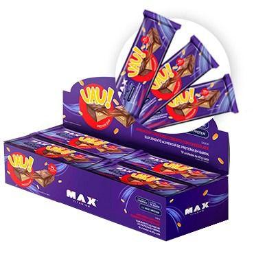 BARRA DE PROTEÍNA- UAU! Protein Bar (45g) Max Titanium (CAIXA - 12 Unid.)