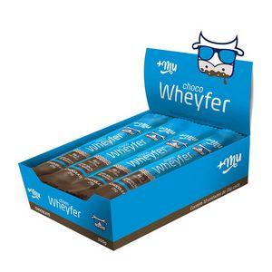 Barra de proteina Chocowherfer - chocolate + MU ( caixa -12 unidades)