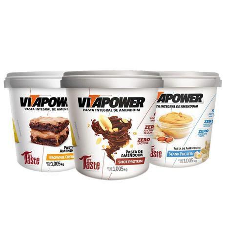 Kit 3  Pastas de Amendoim (1kg cada) - Vitapower
