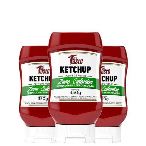 Kit 3 Molhos Ketchup ZERO (350g) - Mrs Taste