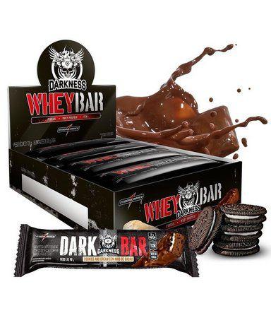 Barra de Proteína  Whey Bar Darkness (Caixa-8 Unidades) - Integral Medica