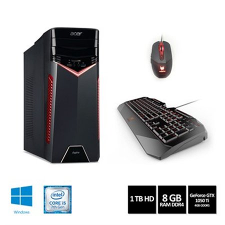Desktop Acer Gamer GX-783-BR11 i5-7400 8GB 1TB GeForce GTX 1050TI W10HOME