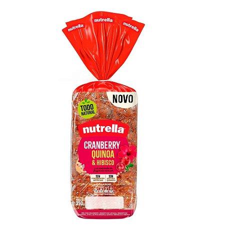 Pao de forma cranberry quinoa e hibisco - Nutrella - 350g