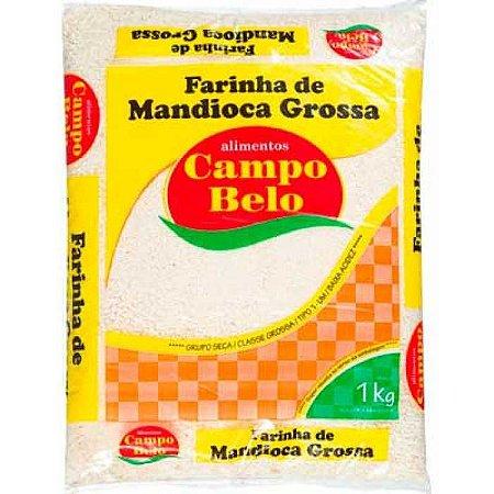 Farinha de mandioca grossa branca - Campo belo - 1kg