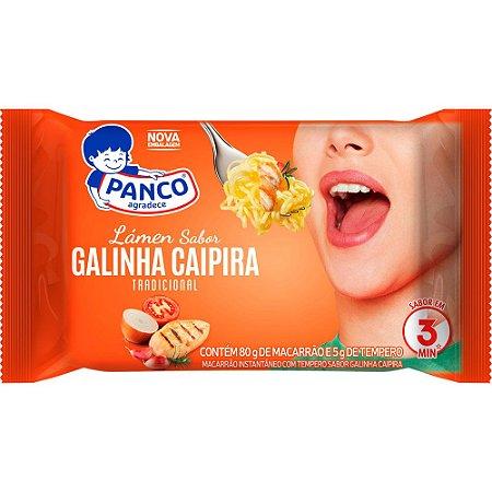 Macarrao instantaneo sabor galinha caipira - Panco - 85g